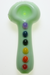 Nhalables Non Edited Image for a White Chocolate Glass (Michigan) Colored Chakra Hand Pipe - Green Colored