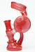 "Nhalables LEFT SIDE Image for a Red frit colored oil rig by California Based glassblower Andrew ""Slims Glass"" Karcher"