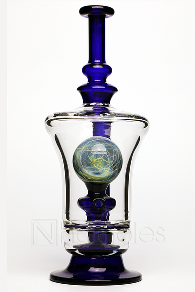 Nhalables back view image for a BTS Glass and Ben Manofsky Collaboration internal marble rig