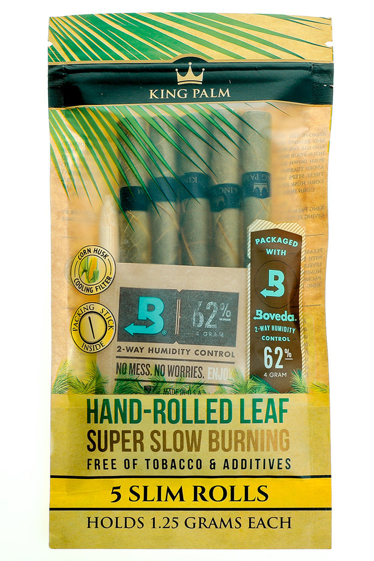 Nhalables Product Image for a 5pack of King Palm - All Natural Leaf 1.25 gram Slim
