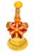 Nhalables Flower Shot 1 View Image for a Orange Mars Glass Solo Spinner Kinetic Flower Rig