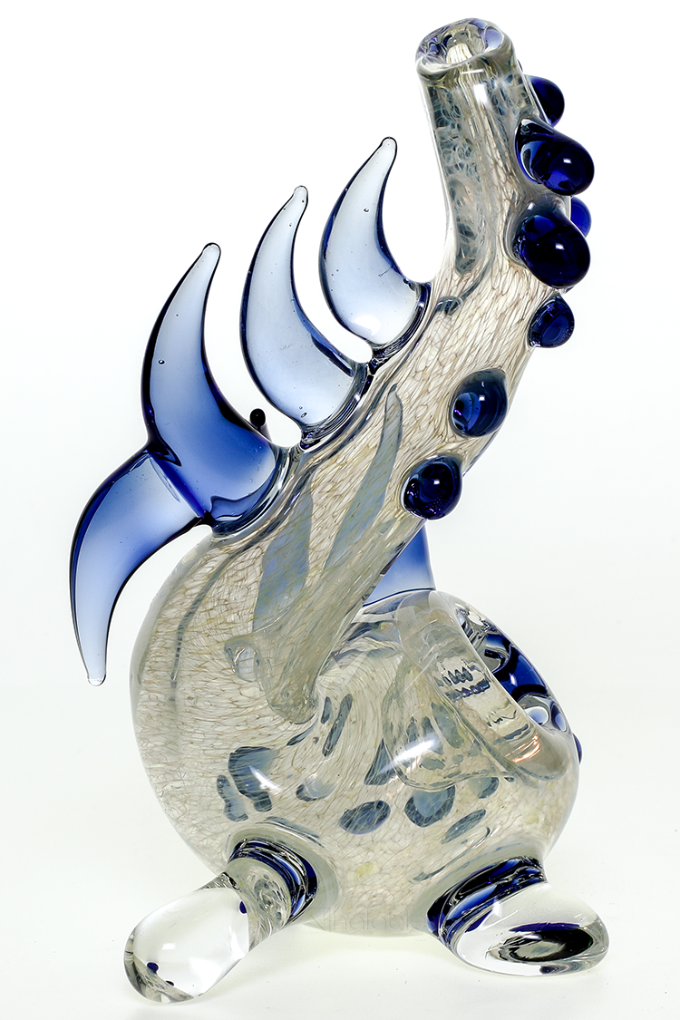 Nhalables Right Side Image for a Fritted Neblock Sherlock by Ohio Based Redbone Glass (@redboneglass)