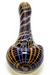 Nhalables Product image for a Purple/Black/Orange Stitch Hand-pipe by Michigan based artist Hoffman Glass (Steve Hoffman)