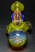 "Nhalables Fumed Cap Image for a Yellow Yipped Honeycomb Spoon by Ohio Based ""Tri Pawd Glass"""