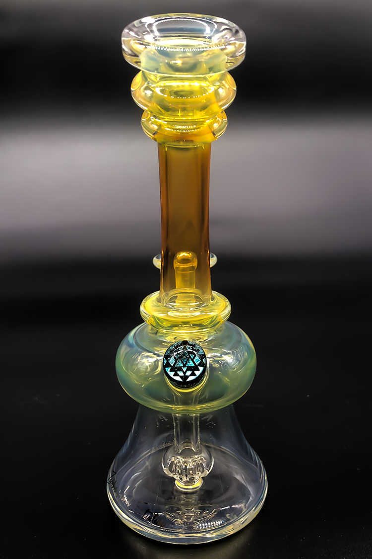 "Nhalables Actual Back Side Image for a Silver/GoldFumed "" Mini Banger Hanger"" by Arizona based Zombie Hand Studios (Brett and Josh)"