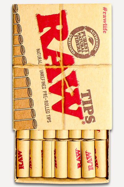 Nhalables Actual Photo of Raw Pre Rolled Rolling Tips in its Caddy