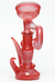 "Nhalables FRONT SIDE Image for a Red frit colored oil rig by California Based glassblower Andrew ""Slims Glass"" Karcher"