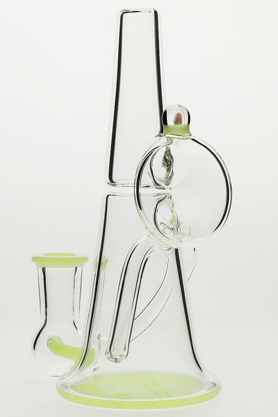 Nhalables Back Left Image for a MeadeMade Glass Beldar with Green accent