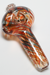 Nhalables Top View angle Image for a Red Spin Spoon Hemp Hand Pipe by New York Based Glassblower HawkGlass (Craig)