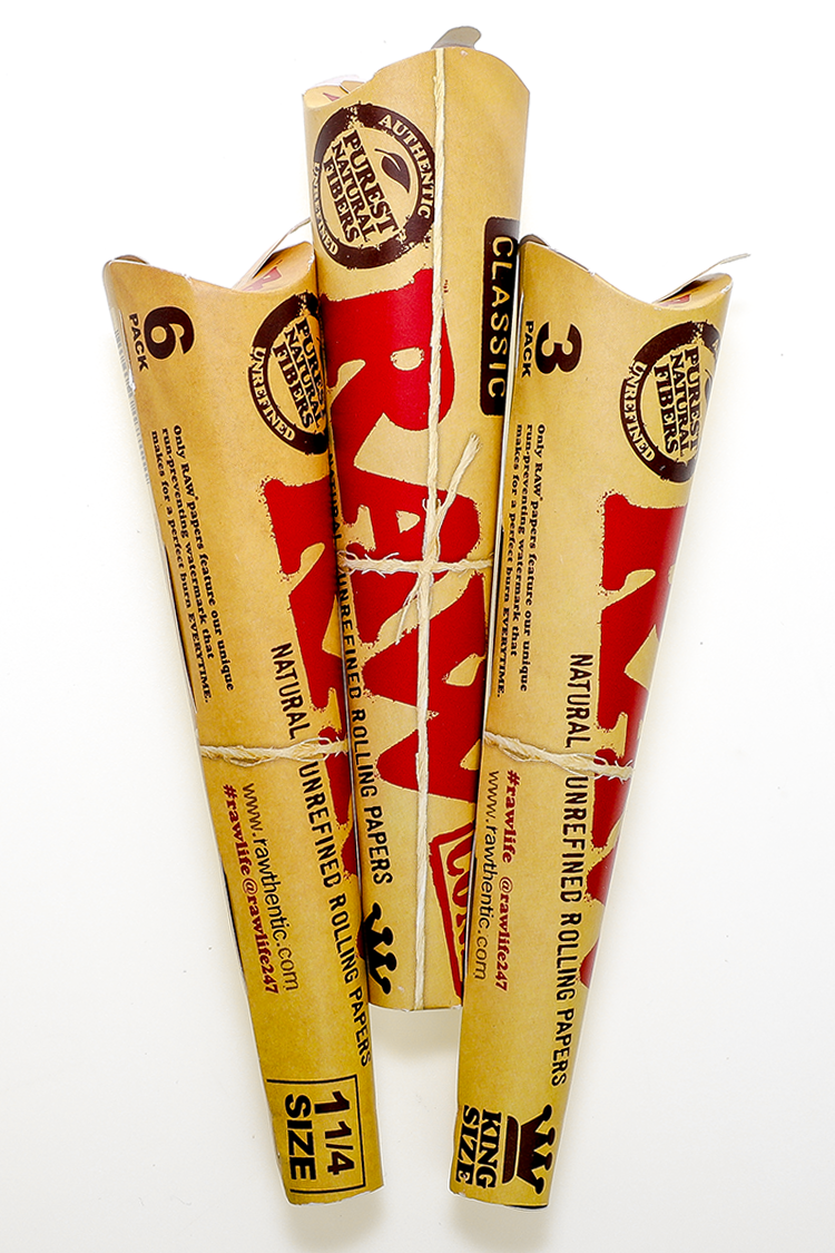 Nhalables Product Image for Raw Rolling Papers Classic Cones available in 1/1/4 and King Size