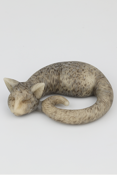 Nhalables Front View Image for a Annie (Spiller Woods) Frosted Spotted Sleeping Kitty Cat Pendant