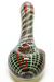 Nhalables Product image for a White/Green/Red Stitch Hand-pipe by Michigan based artist Hoffman Glass (Steve Hoffman)