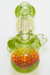 "Nhalables Actual Cap Image for a Yellow Yipped Honeycomb Spoon by Ohio Based ""Tri Pawd Glass"""