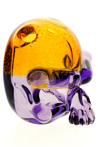 "Nhalables Front Sideview Image for a ""Tuskum Glass"" Skull Pendant *CFL Potion / Terps"