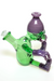 "Nhalables Left Side View Image for a ""Wild Berry and Reformulated Kryptonite"" Colored ""Worker"" Rig by Cleveland based Glassblower ""Tuskum Glass"""
