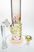 Nhalables Downstem View for Karl Termini (Termini Tubes) Gold and Silver Fumed Straight Tube Waterpipe