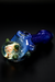 Nhalables Implosion View Image for a Blue Catfish Glass (Ohio, Old Country Blew) Frit colored fumed Implosion Hammer Hand Pipe