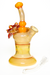 Nhalables Right Side View Image for a Orange Mars Glass Solo Spinner Kinetic Flower Rig