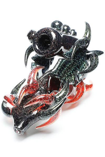 Nhalables Right Side View Image for a Fully Dichrotic Sherlock (Neblock) By Two Ohio Based Artists Redbone Glass (Josh Anderson) and Moonboot