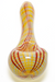 Nhalables Product image for a White/Red/Yellow Stitch Hand-pipe by Michigan based artist Hoffman Glass (Steve Hoffman)