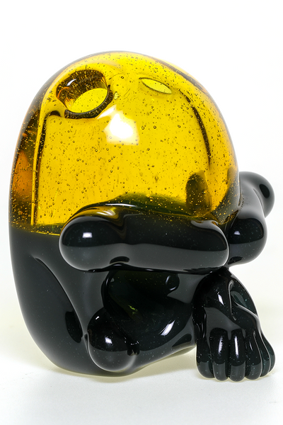 "Nhalables Left Side View Image for a ""Tuskum Glass"" Skull Pendant *CFL UV Gray / Terps"