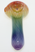 Nhalables Actual Image 3 for a White Chocolate Glass Large Dark Colored Rainbow Spoon