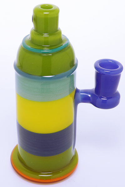 Nhalables right side view Image for a Full Color Encalmo Spray Can Oil Rig by Rone Glass (Oregon)