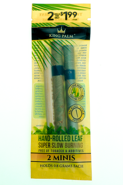 Nhalables Product Image a 2 pack of King Palm - All Natural Leaf  0.8g - Mini