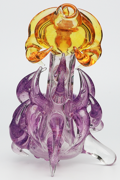 Nhalables Back View Image for a hand worked Parallax/Terps Neblock Sherlock by Ohio Based Artist Redbone Glass (Josh Anderson)