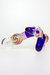 Nhalables Backside Image for a Blue and Pink Slyme Nectar Collector with Dish