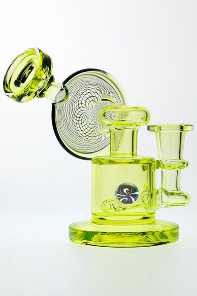 Nhalables Normal lighting Sideview Image for Arizona Based Glassblowers Zombie Hand Studios (Josh Forche, Brett Hughes) Retticello Illuminati Sidecar Oil Rig