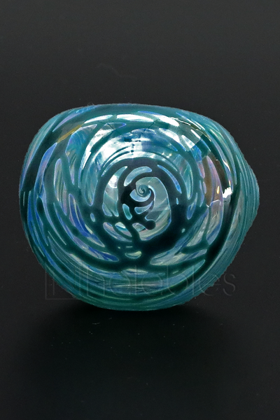 BTS Glass - Silver Fumed Chaos Wrapped Spoon