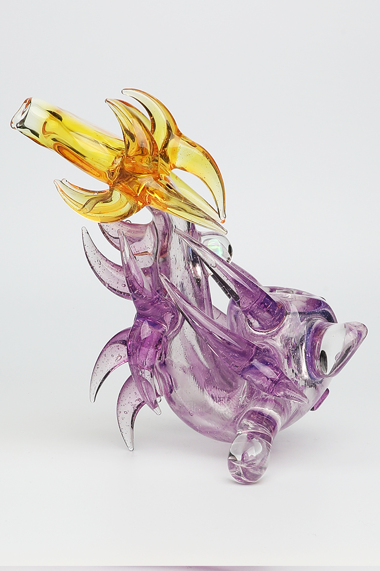 Nhalables Right Side Image for a hand worked Parallax/Terps Neblock Sherlock by Ohio Based Artist Redbone Glass (Josh Anderson)