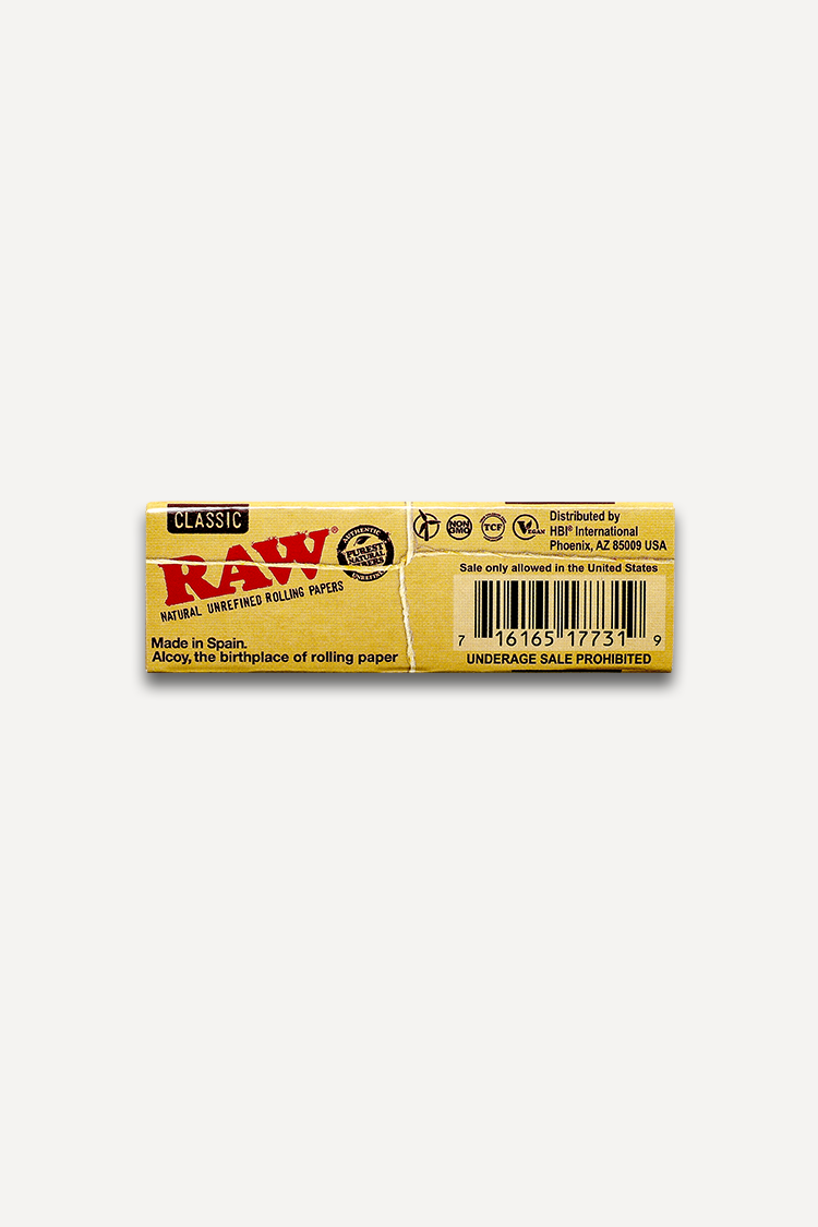Nhalables Actual Backside Image for Raw Classic  1 1/4 Rolling Papers