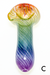 Nhalables Variant C Image for a White Chocolate Glass Small Colored Rainbow Spoon