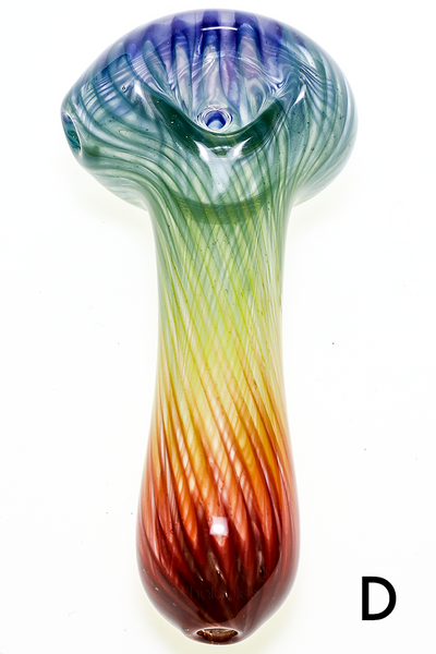 Nhalables Variant D Image for a White Chocolate Glass Small Colored Rainbow Spoon