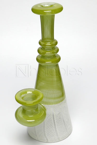 Jeff Heath - Zanfirico Beaker *Guacamole & White