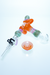 Nhalables Backside Image for a Orange and Purple Slyme Nectar Collector with Dish