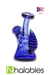 Nhalables Product View Image for a blue feather jammer Ohio based artist Layz Glass