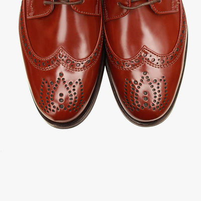 Owen High Shine Dress Brogue in Black or Mocca