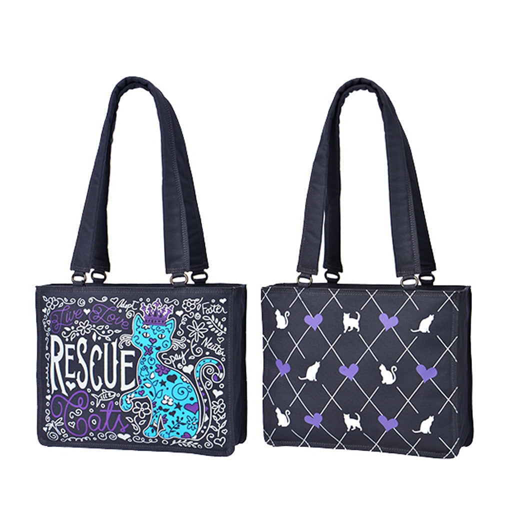 """Rescue Cat"" Large Tote"