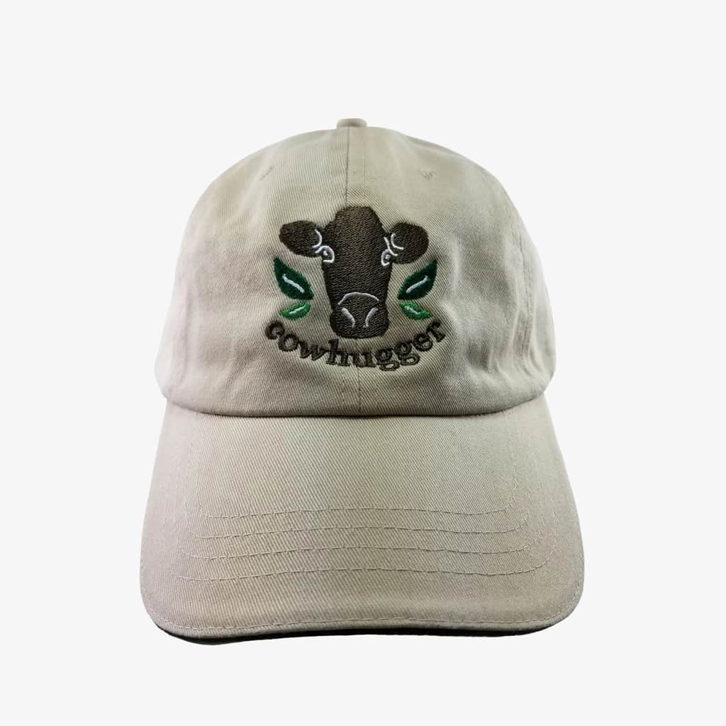 Cowhugger Logo Cap - Tan with Green