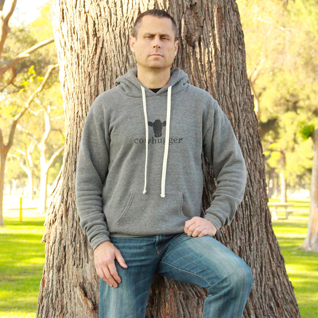 Cowhugger Gray Hooded Sweatshirt