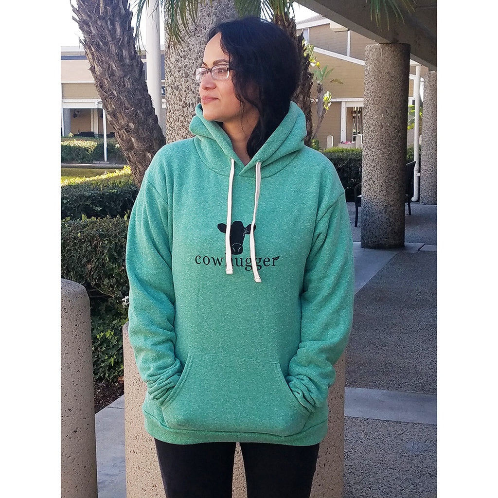 Cowhugger Kelly Green Hooded Sweatshirt