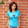Cowhugger Heather Aqua Women's Logo T-shirt