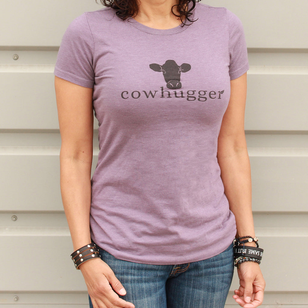 Cowhugger Heather Purple Women's Logo T-shirt