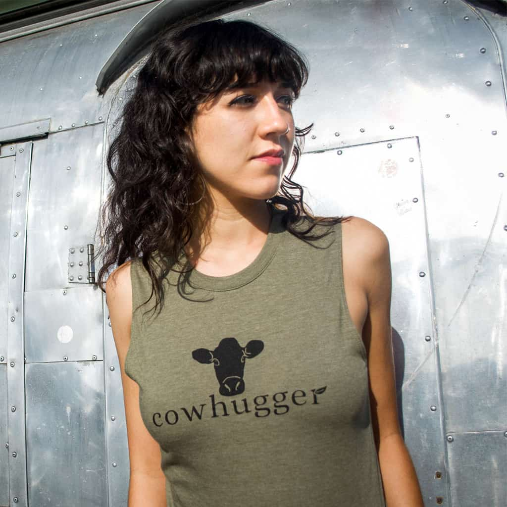 Cowhugger Unisex Muscle Tank - Green