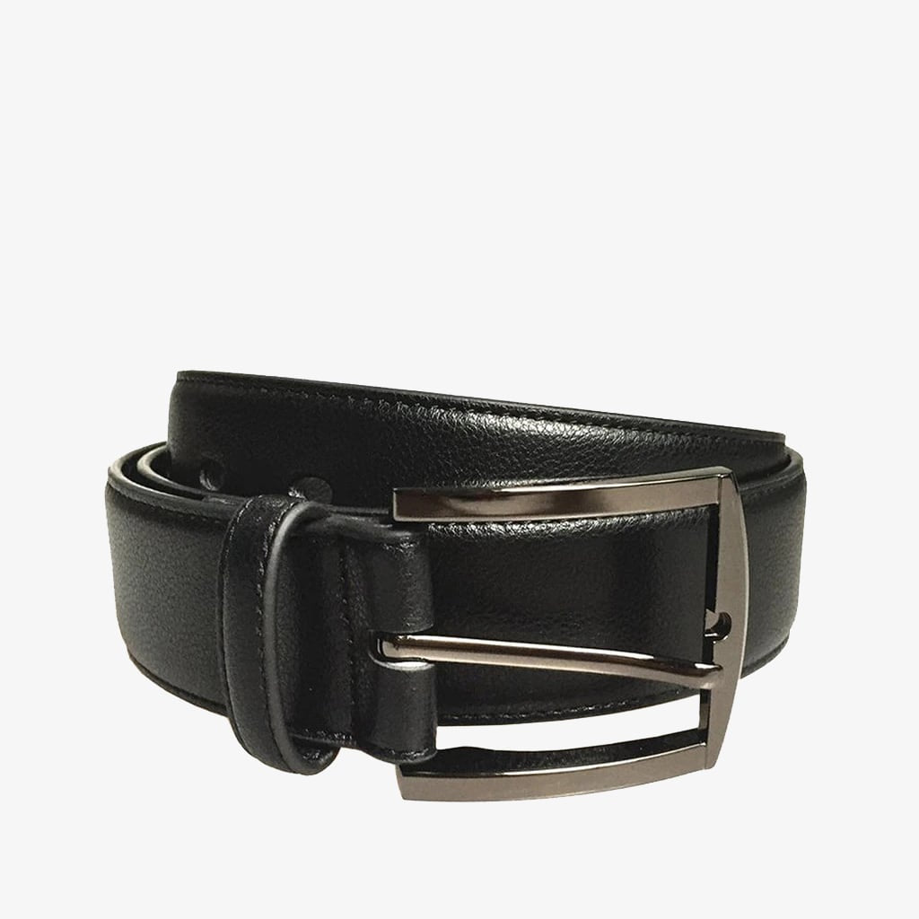 Doshi Metallic Black Square Belt