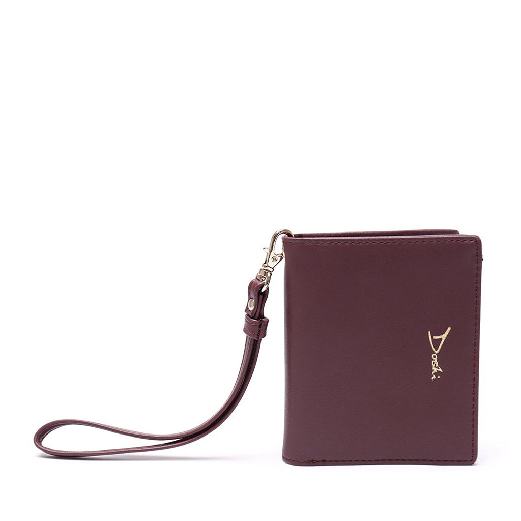 Mini-Wallet Wristlet - Burgundy