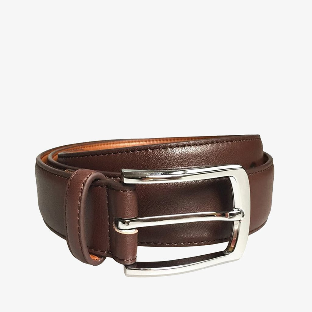 Doshi Professional Polished Chrome Belt - Coffee